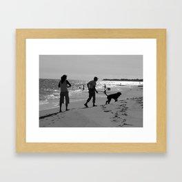 Man is a Dogs best Freind   Framed Art Print