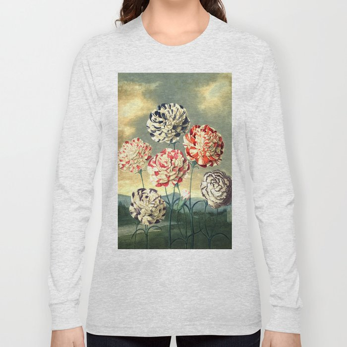 Carnations : New Illustration Of The Sexual System Long Sleeve T-shirt
