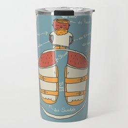 der Strumpf, die Sandale. Travel Mug