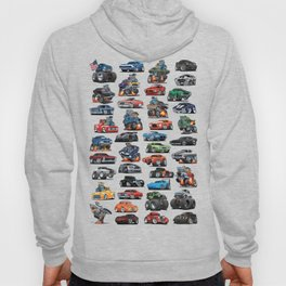 American Hot Rods, Muscle Cars, Street Rods, Pickup Trucks and Motorcycle Cartoons Hoody