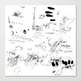 Night drawings Canvas Print