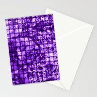 Purple Satin Weave Effect Stationery Cards