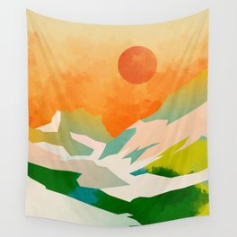 mountains landscape abstract Wall Tapestry