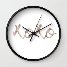 Rose gold XOXO Wall Clock