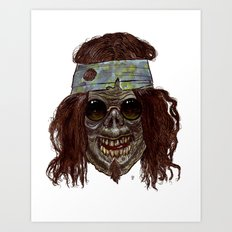 Heads of the Living Dead Zombies: Hippie Zombie Art Print