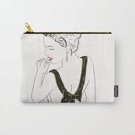Smitten with the weekend in red lips and bows Carry-All Pouch