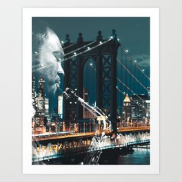 Jazz in New york Art Print