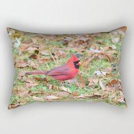 Autumn Leaves Cardinal Rectangular Pillow