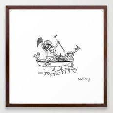 In which sea mammals can be used for propulsion in maritime exploration Framed Art Print