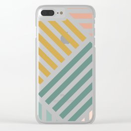 Abstract Summer Lines Clear iPhone Case