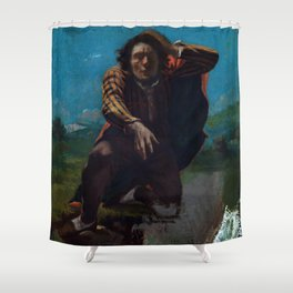 "Gustave Courbet ""The Man Made Mad with Fear"" Shower Curtain"