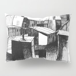 ARCHITECTURE PEN & INK DRAWING Pillow Sham