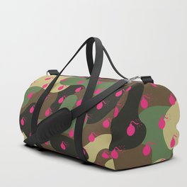 CAMO & HOT PINK BOMB DIGGITYS ALL OVER LARGE Duffle Bag