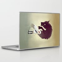 yellow Laptop & iPad Skins featuring Werewolf by Freeminds