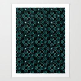 Geometrical flower crystal shape Art Print