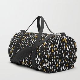 Triangle Modern Art - Black Gold Duffle Bag