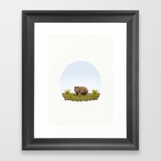 Vombatus ursinus 'Common Wombat' Framed Art Print
