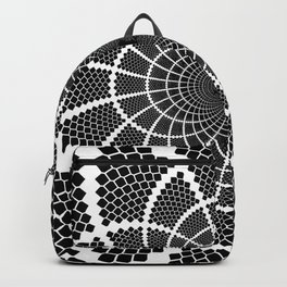 Optical Illusion Medallion Backpack