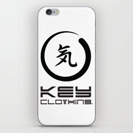 Key Clothing Canada Kanji Brushstroke Black Logo iPhone Skin