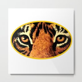 Tiger Eyes jGibney The MUSEUM Society6 Gifts Metal Print