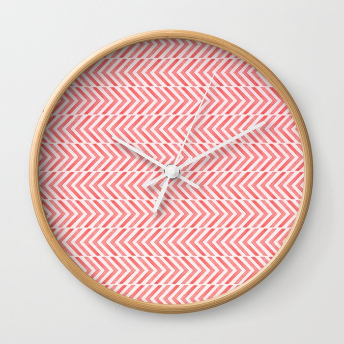 Red Geometric Watercolor Pattern