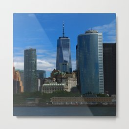 Manhattan View From Hudson River Metal Print