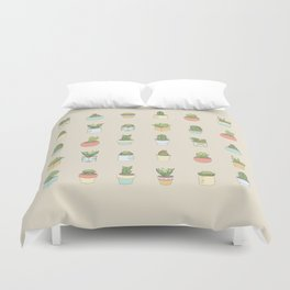 Cute Succulents Duvet Cover