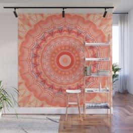 Mandala soft orange 3 Wall Mural