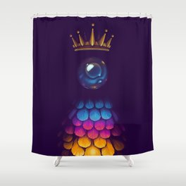 She Who Burns Shower Curtain