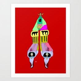 multi mecha go Art Print