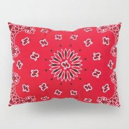 Paisley - Bandana Art - Red - Southwestern Pillow Sham