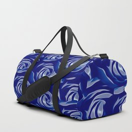 blooming blue rose pattern texture abstract background Duffle Bag