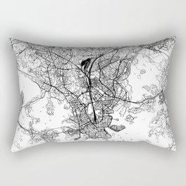 Helsinki White Map Rectangular Pillow