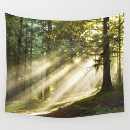 Morning Sunbeams Wall Tapestry