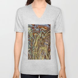 Scramble - Digital Abstract Expressionism Unisex V-Neck