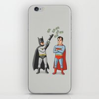 superheros iPhone & iPod Skins featuring Super Rich by Ian Byers