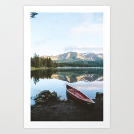 Sunrise Canoe at Lake Irwin Art Print