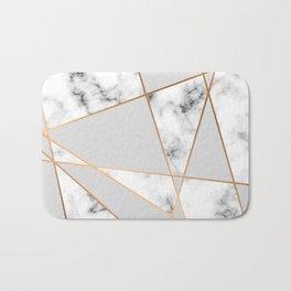 Copper smokey marble geo Bath Mat