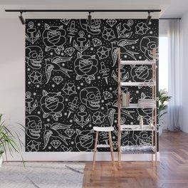 Black flash Wall Mural