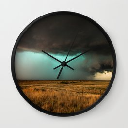 Jewel of the Plains - Storm in Texas Wall Clock