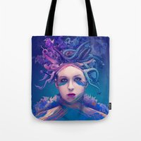 queen Tote Bags featuring Queen by Alessandro Pautasso