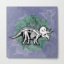 Triceratops Fossil Metal Print
