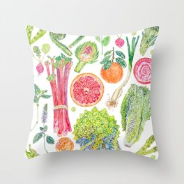 Spring Harvest Throw Pillow