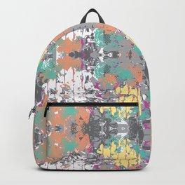 Crazy hibiscus grey Backpack