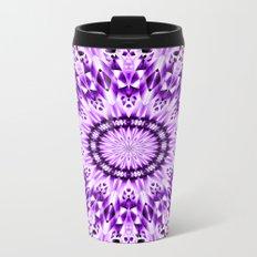 Ice Crystal Mandala (violet purple) Metal Travel Mug