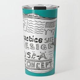 Safe Design illustration Travel Mug