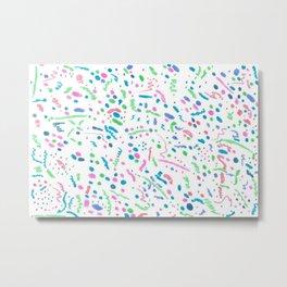 Confetti Splatter Pattern Metal Print