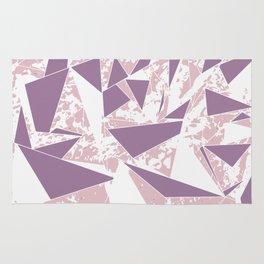 Violet Purple Blush Pink Splatter Triangles Rug