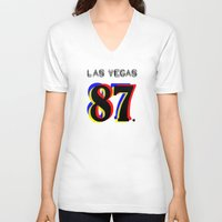 las vegas V-neck T-shirts featuring Las Vegas by Joe Alexander