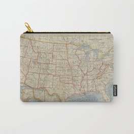 Old and Vintage Map of every States of The United States Of America Carry-All Pouch